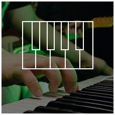 Keyboard und Klavier